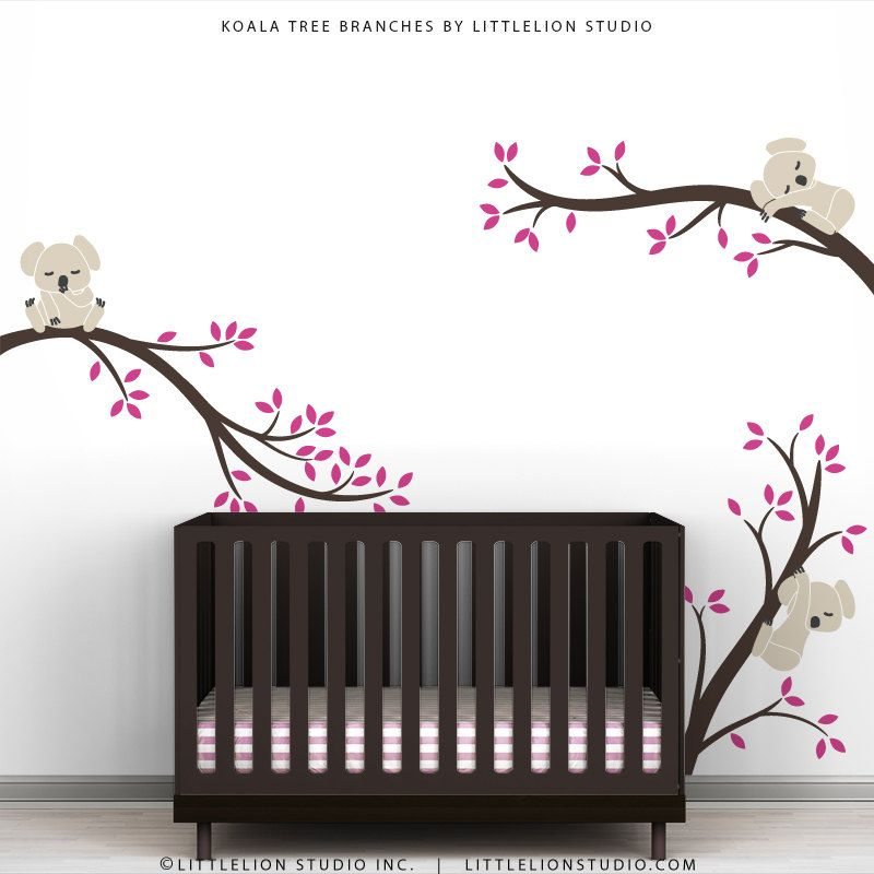Luxury Kids Tree Wall Decals Baby Nursery Room Decor Tree Wall Decal Koala Tree Branches by LittleLion Studio $79 00 via Etsy Photo - Minimalist baby room decals Trending