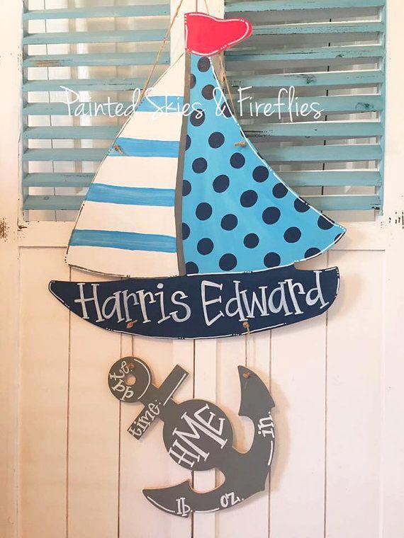 Hospital Birth Announcement Door Hanger by paintedskyfirefly – Hospital Birth Announcements
