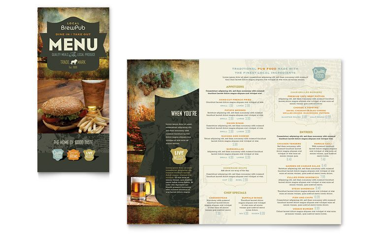 brewery pamphlet idea ALAMO Beer Leave behind Pinterest - menu templates free microsoft