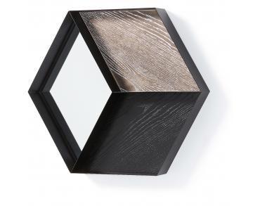 Spiegel Zwart Metaal : Spiegel sibille geometrisch metaal zwart la forma