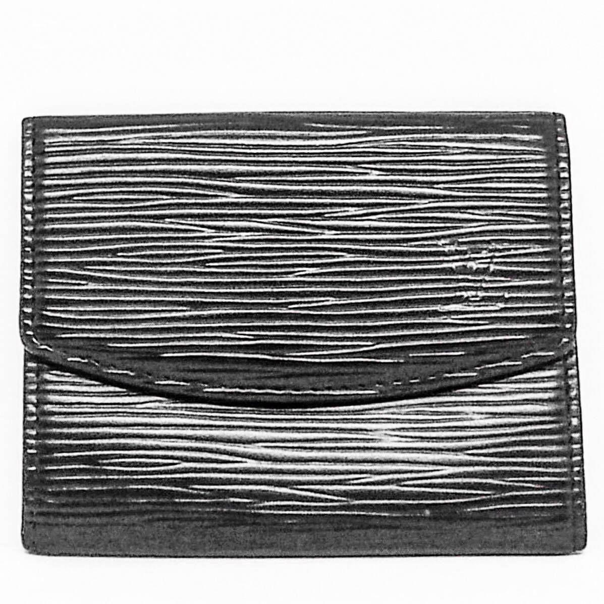 Louis Vuitton Black Vintage Epi Bi-fold 2004 Wallet - Tradesy