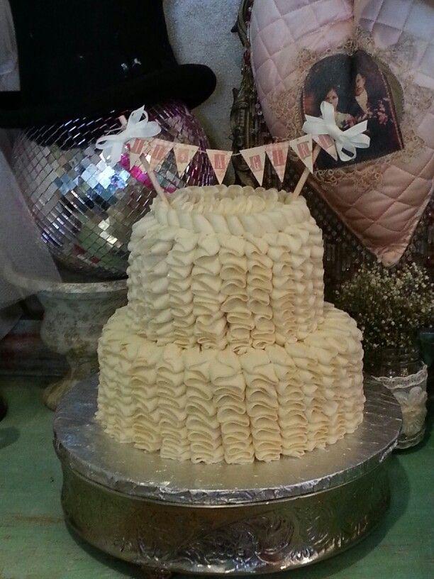 Vintage Baby Shower Cake