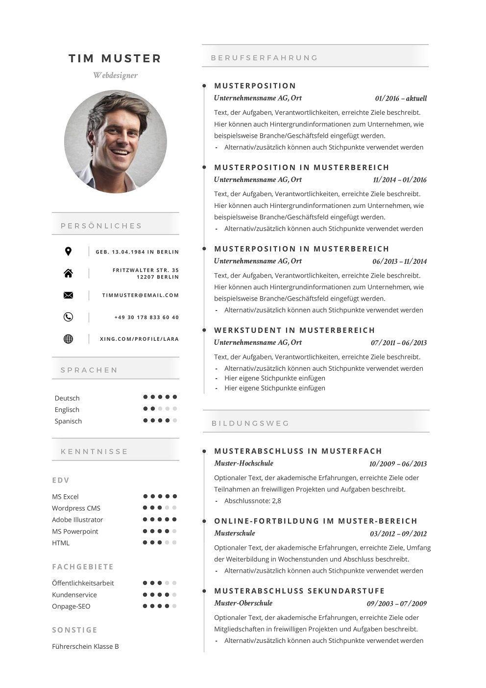 Premium Bewerbungsmuster 9 Lebenslaufdesigns De Marketing Premium Bewerbungsmuster 9 Lebenslaufdesigns De Resume Templates Resume Resume Design