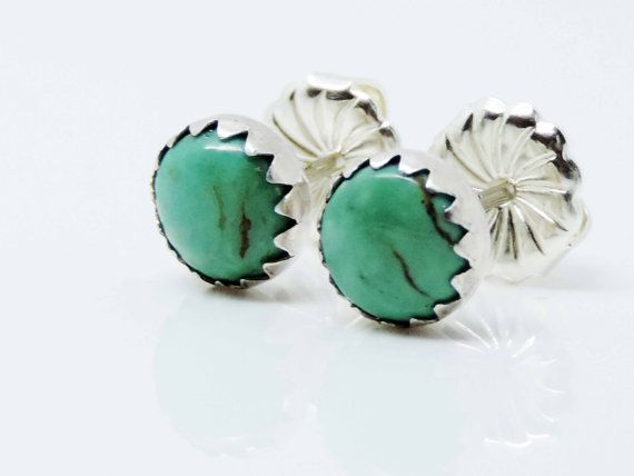 Hey, I found this really awesome Etsy listing at https://www.etsy.com/listing/261398310/turquoise-stud-earrings-sterling-silver