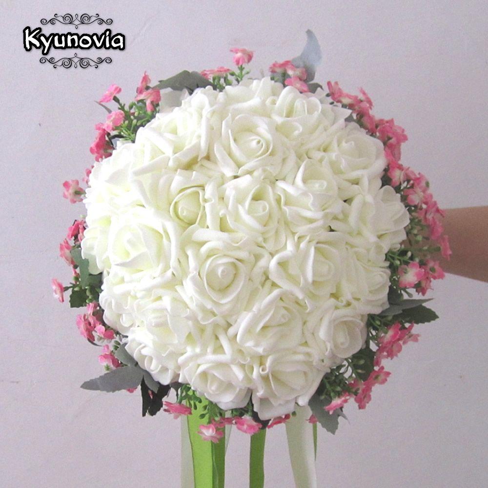 Kyunovia 24 pieces of rose flower 6 color artificial bride hands kyunovia 24 pieces of rose flower 6 color artificial bride hands holding rose flower wedding bridal izmirmasajfo