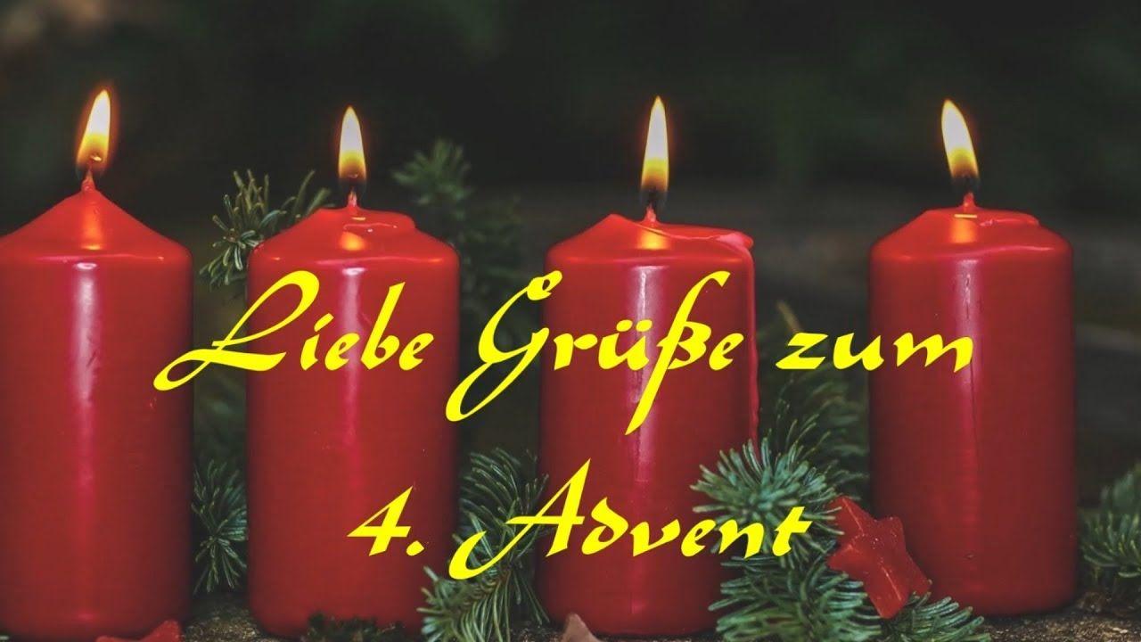 Liebe Grüße zum 4. Advent - Adventsgrüße zum Versenden