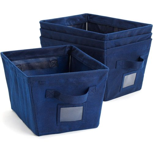 Navy Storage Bins | Sign In To See Details And Track Multiple Orders.  Walmart