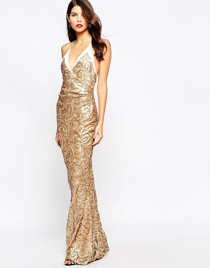 The Crystal Collection by Vesper Odessy Sequin Maxi Dress | ASOS ...