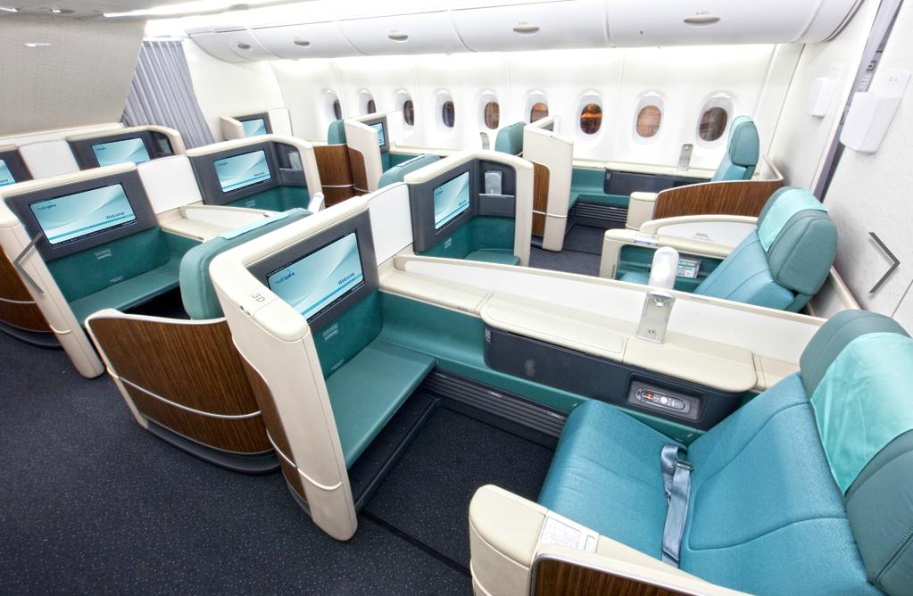 Korean Air A380 First Class Suite Le caire, Voyage avion