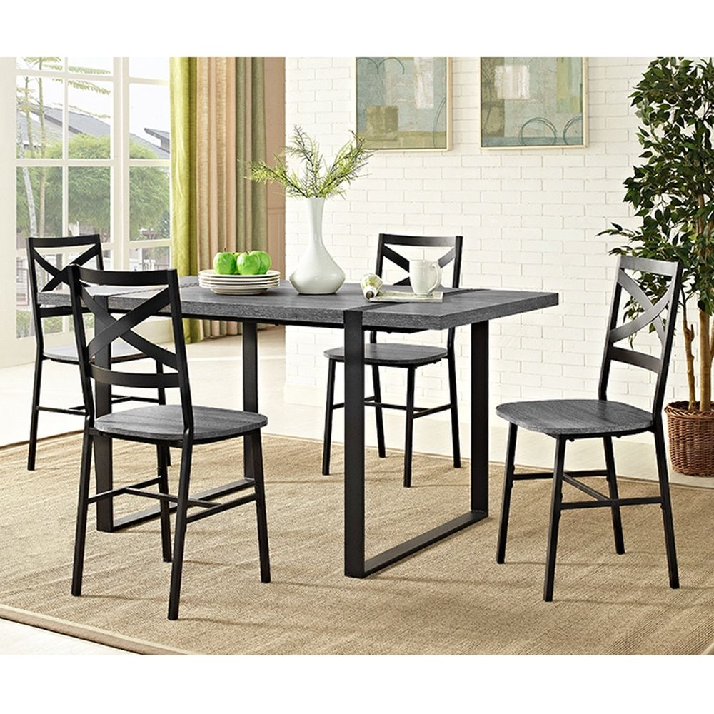 """60"""" Urban Blend Wood Dining Table  Charcoal  Organizing And Woods Cool Charcoal Dining Room Design Ideas"""