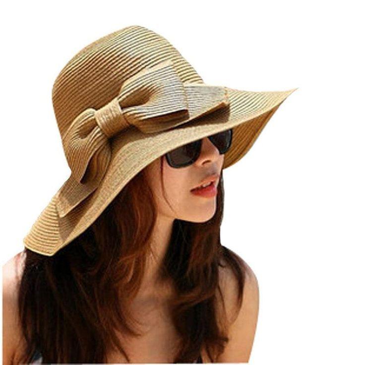 Summer Hut Fashion Maharagama: Women Hat Gorros Straw Beach Wide Large Brim Cap Brand New