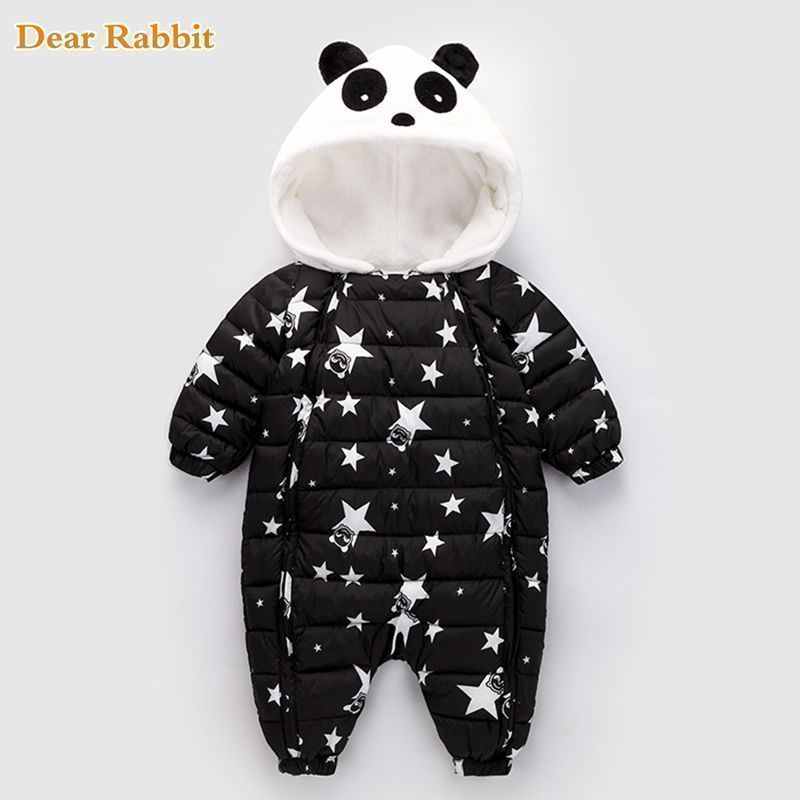 6173c6af1 Nice Winter Panda Baby Rompers Overalls Bodysuit Clothes Jumpsuit ...