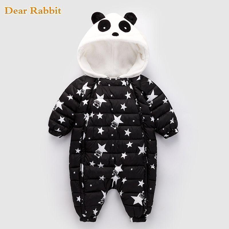 6173c6af1 Nice Winter Panda Baby Rompers Overalls Bodysuit Clothes Jumpsuit ...