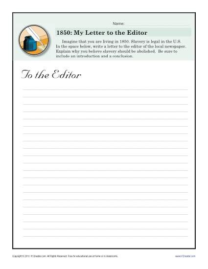 Letter To The Editor Black History Month Worksheets Lettering Letter To The Editor Black History Month Worksheets