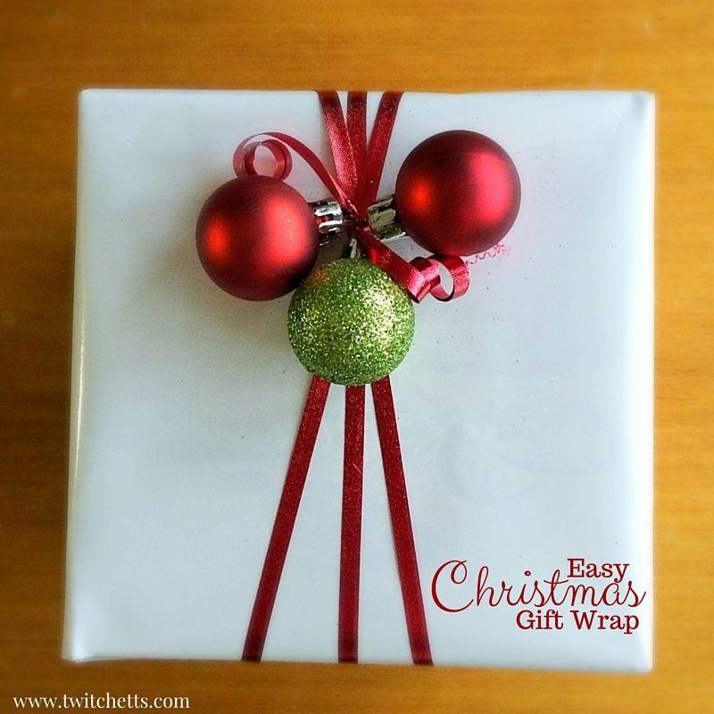 Simple and Fun Christmas Gift Wrap Pakowanie, Pakowanie prezentów