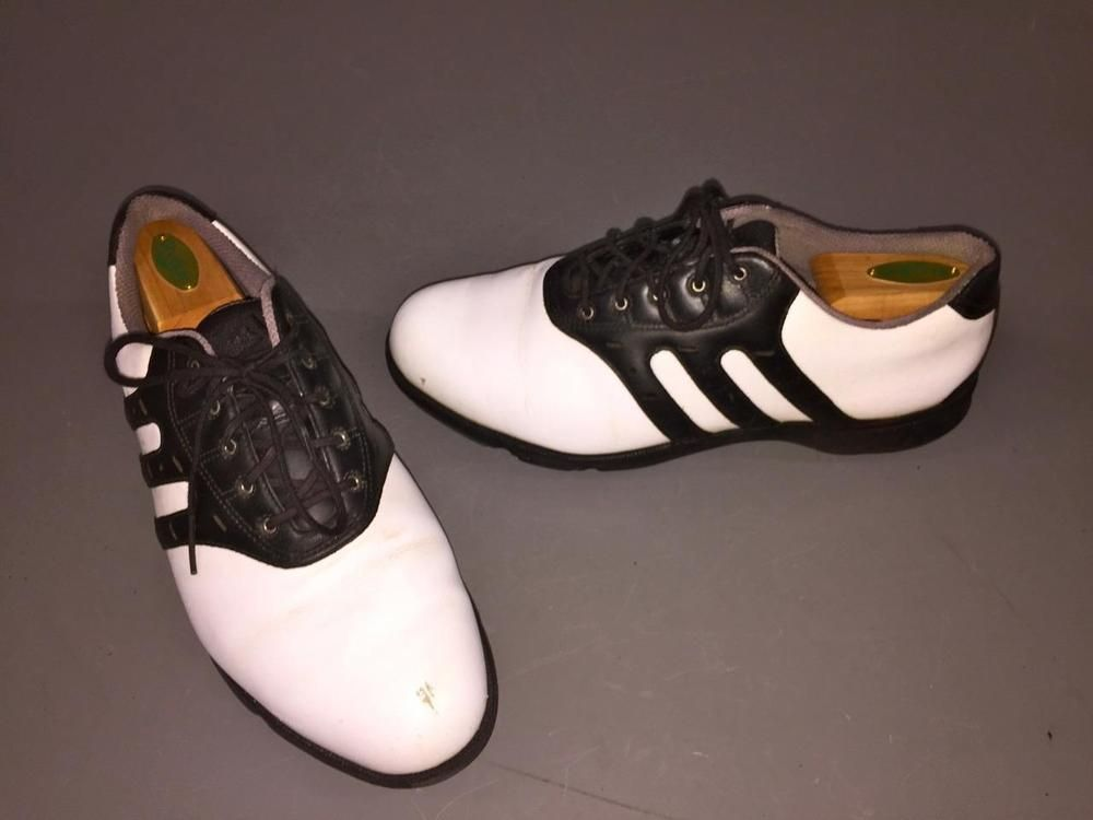19a6a7b72 Adidas Z-Traxion  791003 Golf Shoes Mens Black White Leather Sz 10.5 US~PRE  OWN  ADIDAS