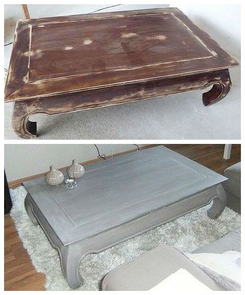 Table Basse Relookee Table Basse Peinte Table Basse Relooking Meuble