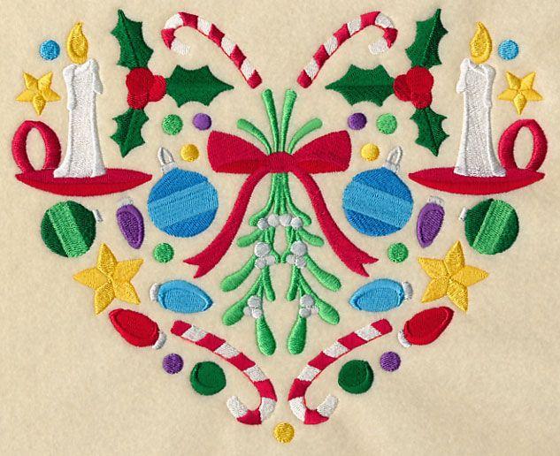 Festive Christmas Heart - Mistletoe