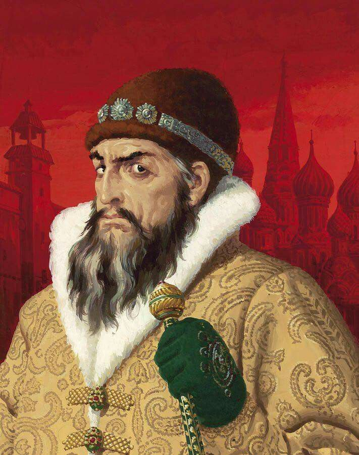 "Portrait of Ivan The Terrible painted by Viktor Vasnetsov in ""1897"". Ivan  IV was the first Tsar of Russia, giving h… 