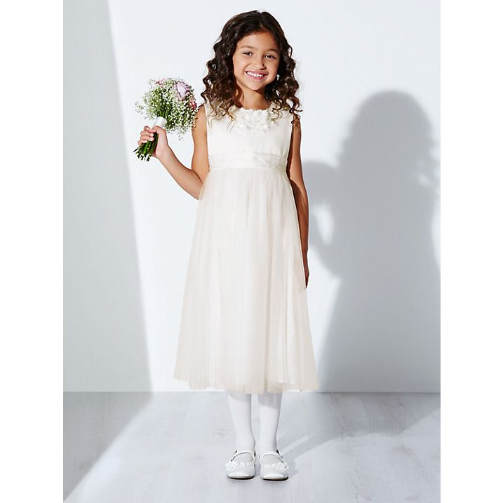 c5b9e5ec27 Buy John Lewis Girl Floral Neckline Bridesmaid Dress, Ivory, 2 years Online  at johnlewis.com