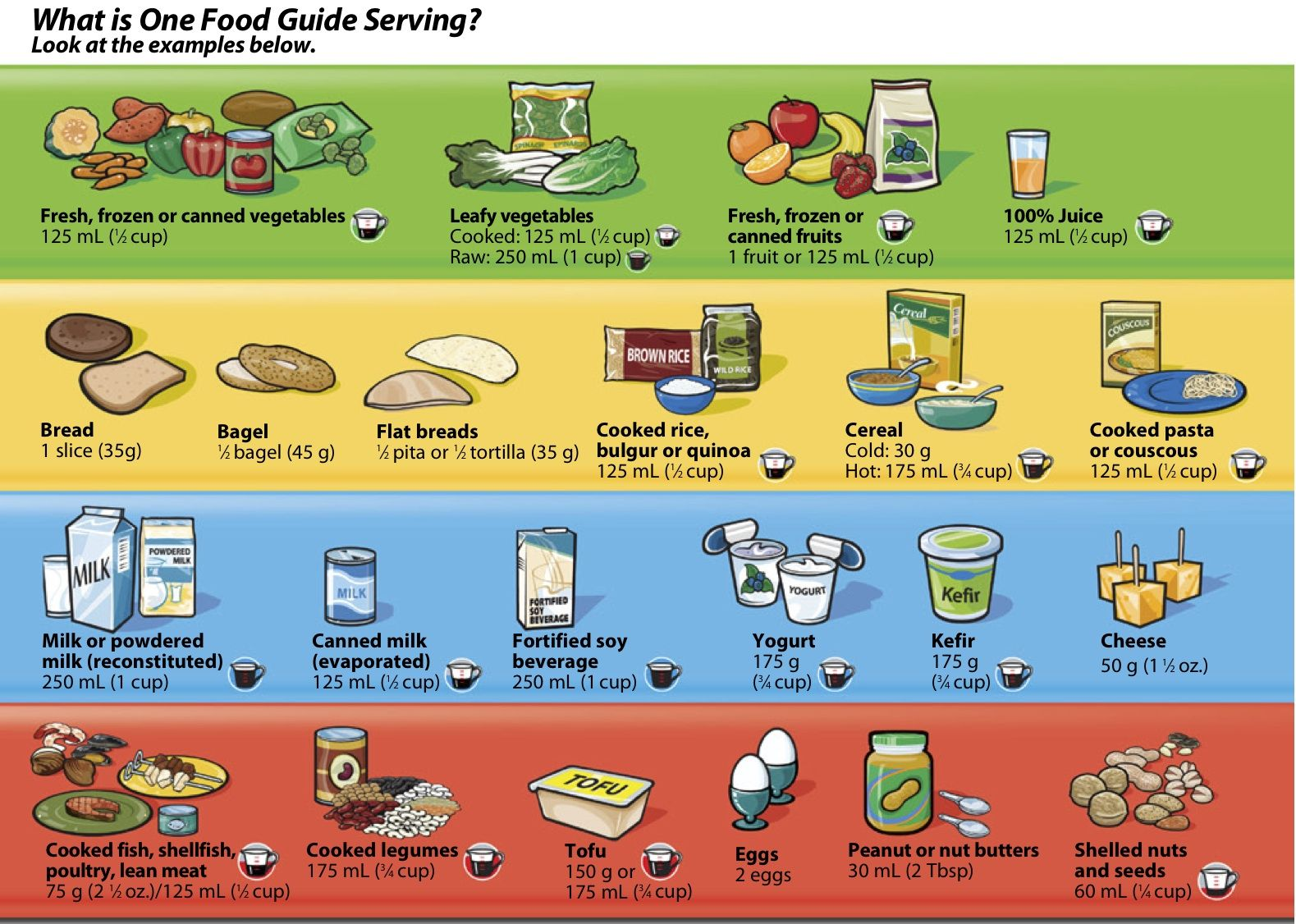 Food For Thought Canada Food Guide Food Guide Food Pyramid Servings