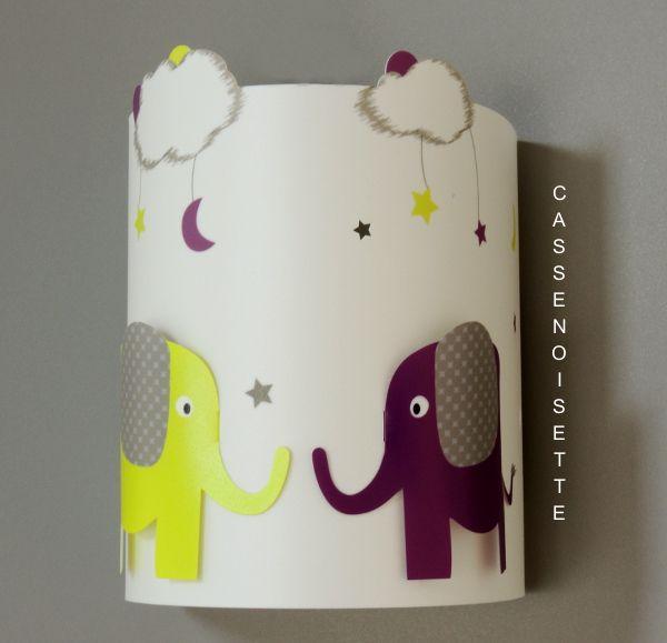 Applique murale éléphant pour chambre bébé savane ou jungle, couleur ...