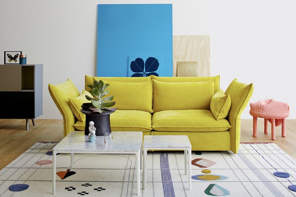 Vitra Haus Living Room Vitau0027s New U0027Mariposau0027 Sofa By Barber Osgerby, Doshi  Levien U0027Rabariu0027 Rug And Lots More.