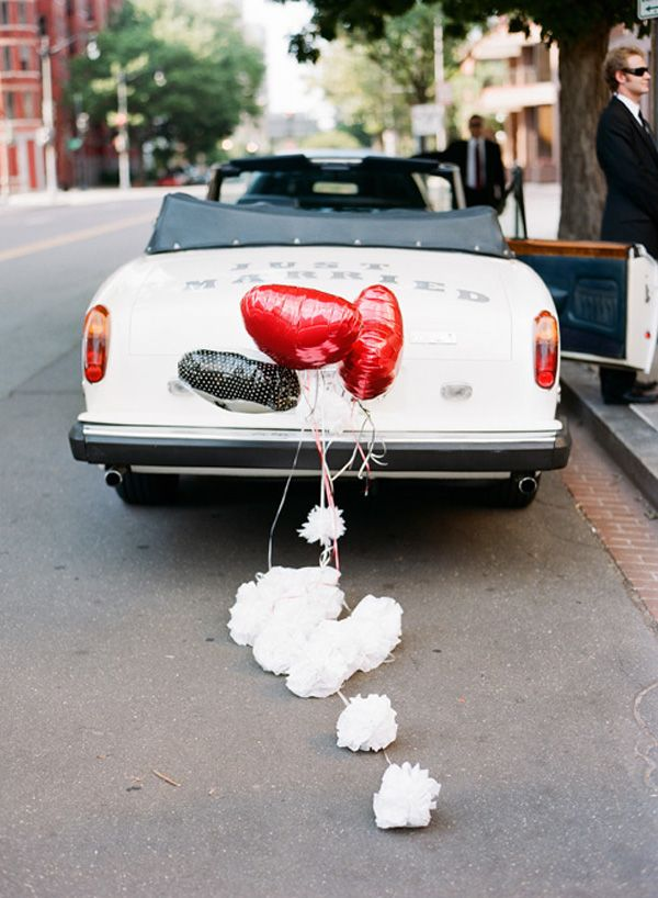 Red And White Wedding Getaway Car Wedding Cars Wedding Suv Bridal
