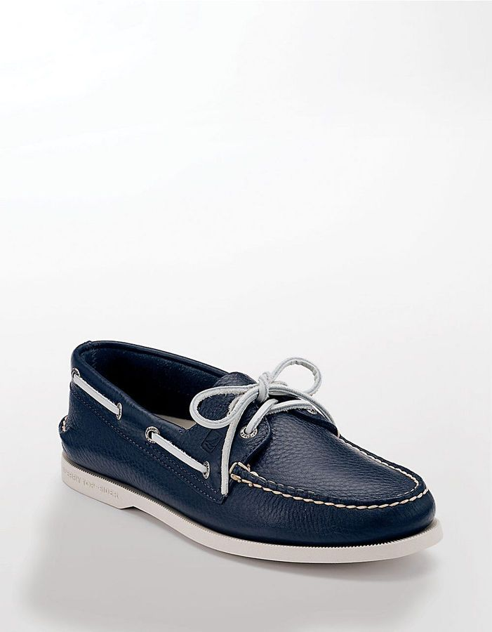 Navy Leather Boat Shoes by Sperry. Buy for $84 from Lord & Taylor