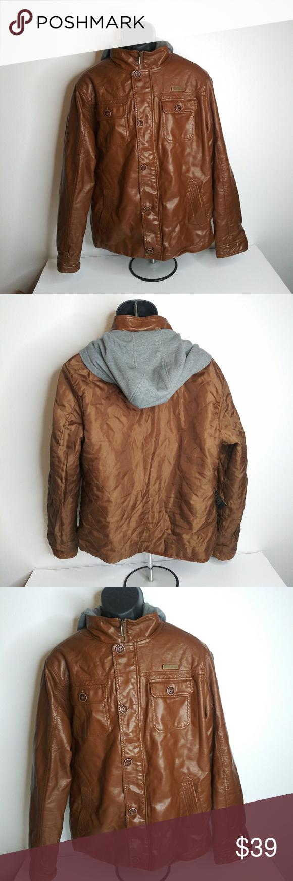 English Laundry Mens Brown Jacket Large Zipper Brown Jacket Men Brown Jacket Jackets [ 1740 x 580 Pixel ]