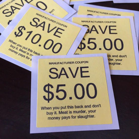Buy Manufacturer Coupons >> Manufacturer Coupons Vegan Activism Stickers 24 By Customlyy