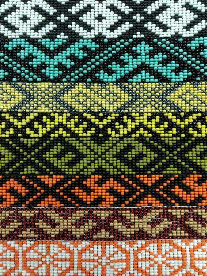 Loom bead. Etno. Latvian.