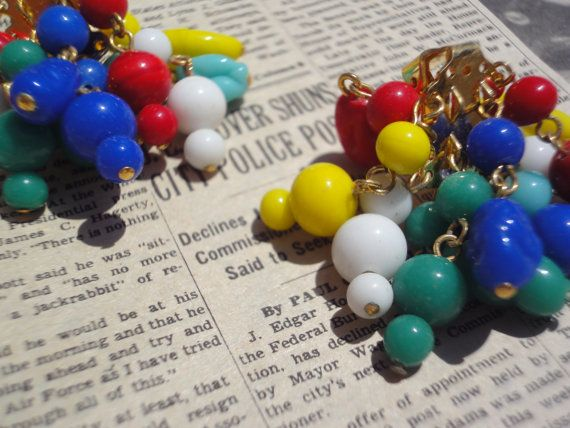 Vintage Colorful Glass Cluster Bead by SignatureStylesByCAL, $14.90