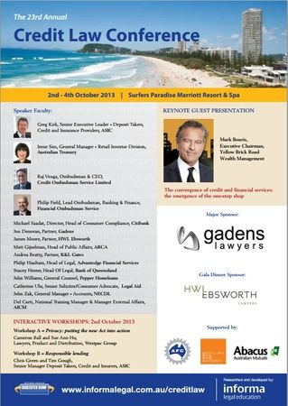 The Rd Annual Credit Law Conference  The  Credit Law