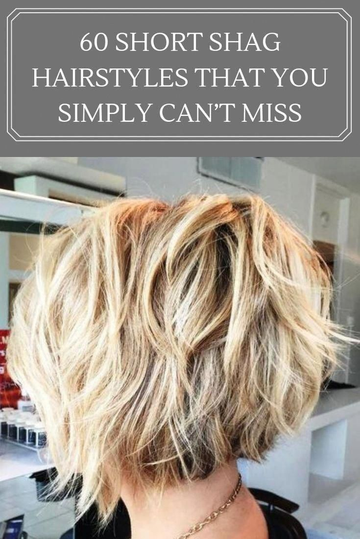 Flirty flair can be incorporated into short shag hairstyles with just a bit of wavy texture. It looks effortless, weightless and full of movement, but still full and thick—the best of both worlds. #shortbob #shorthairstylesforthickhair #shortshag