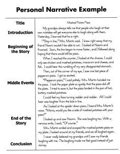 000 How To Write A Personal Narrative Essay For 4th 5th Grade
