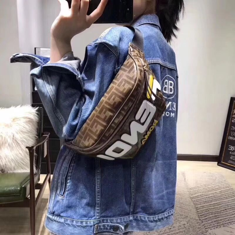4b50cd478e Fendi unisex woman man belt bag waist chest pouch