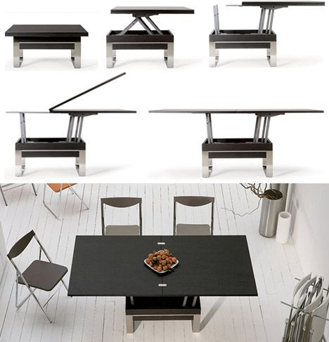 dining table convertible coffee table