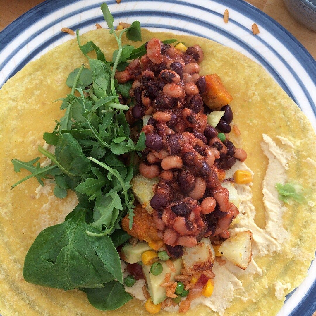 BBQ bean burritos with easy Mexican rice   Livin' the Vegan