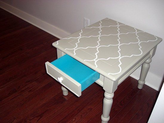 Before And After: A Moroccan Style Side Table Makeover