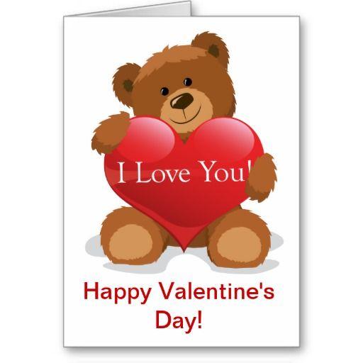 Teddy Bear Valentine Holiday Card Zazzle Com In 2021 Teddy Bears Valentines Bear Valentines Teddy Bear Valentine Cards
