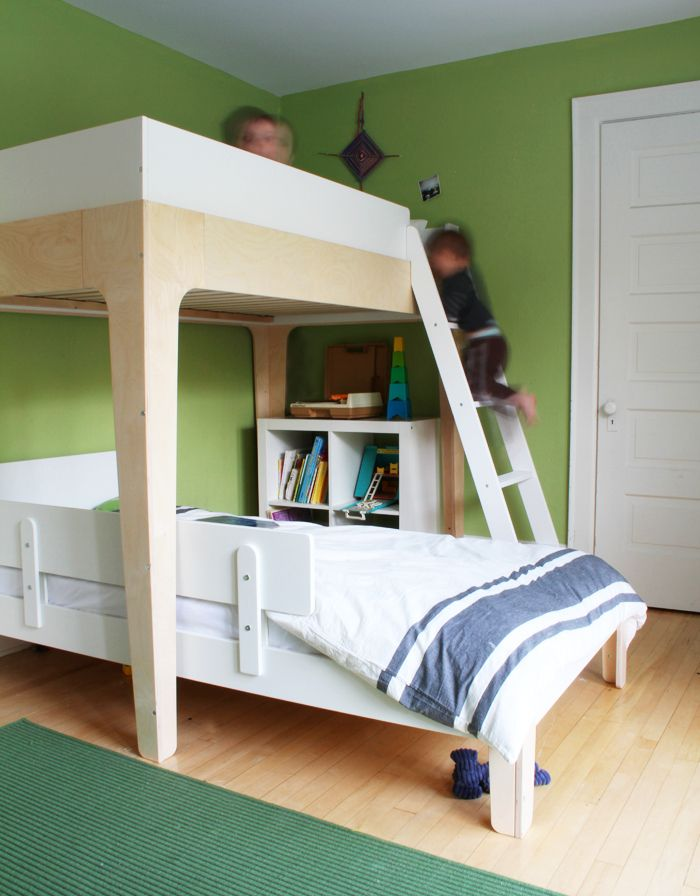 record player in the kids room oeuf perch bunk bed in the boys