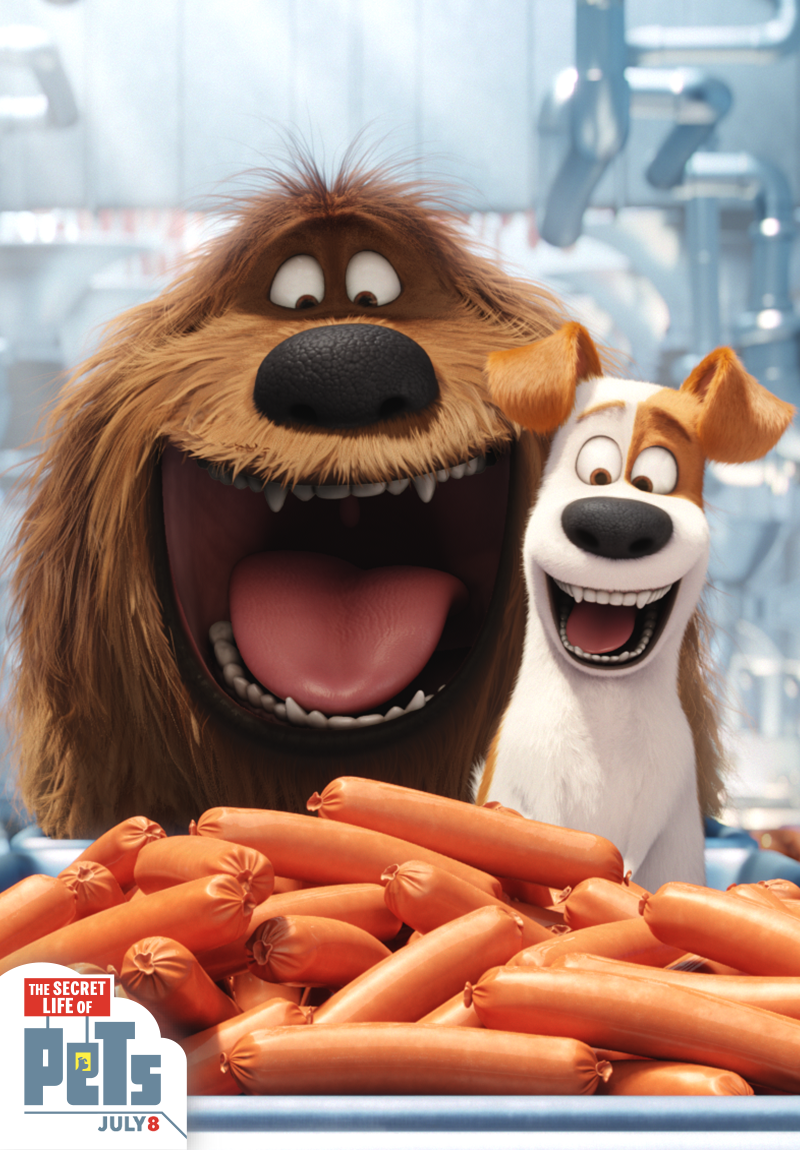 Max and Duke's favorite treat is mouthwatering sausage