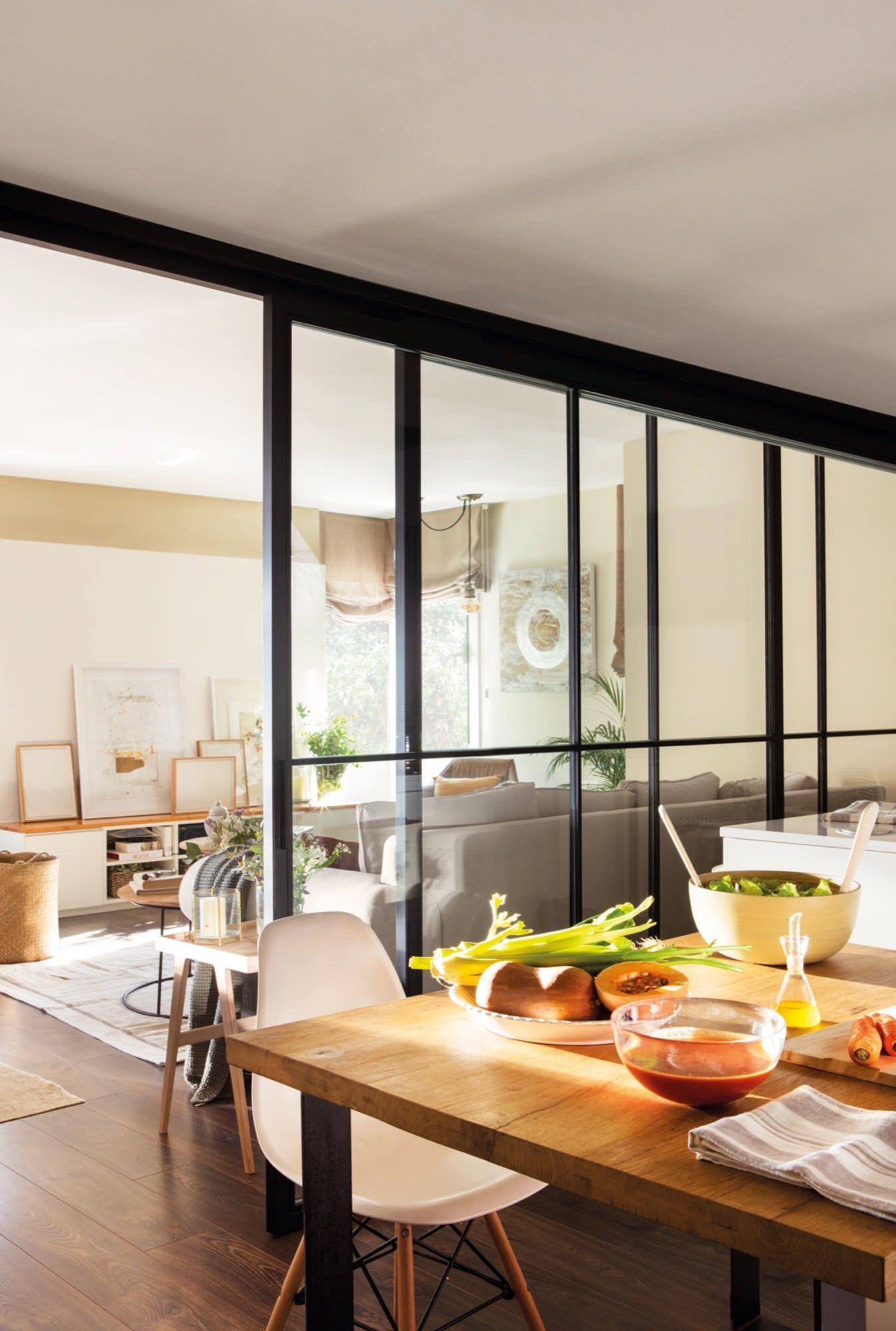 Una cocina abierta en 2019 comunicar espacios cocina for Separacion de muebles cocina comedor