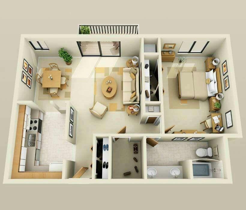 Apartment Floor Plans, One Bedroom Apartment