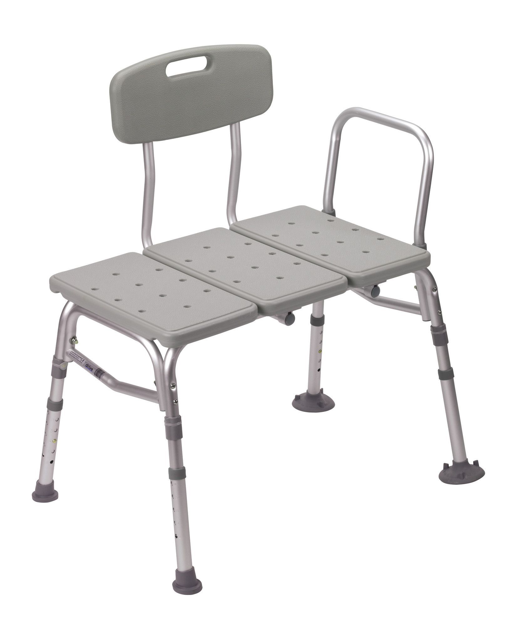 Shower Tub Transfer Bench with Adjustable Backrest