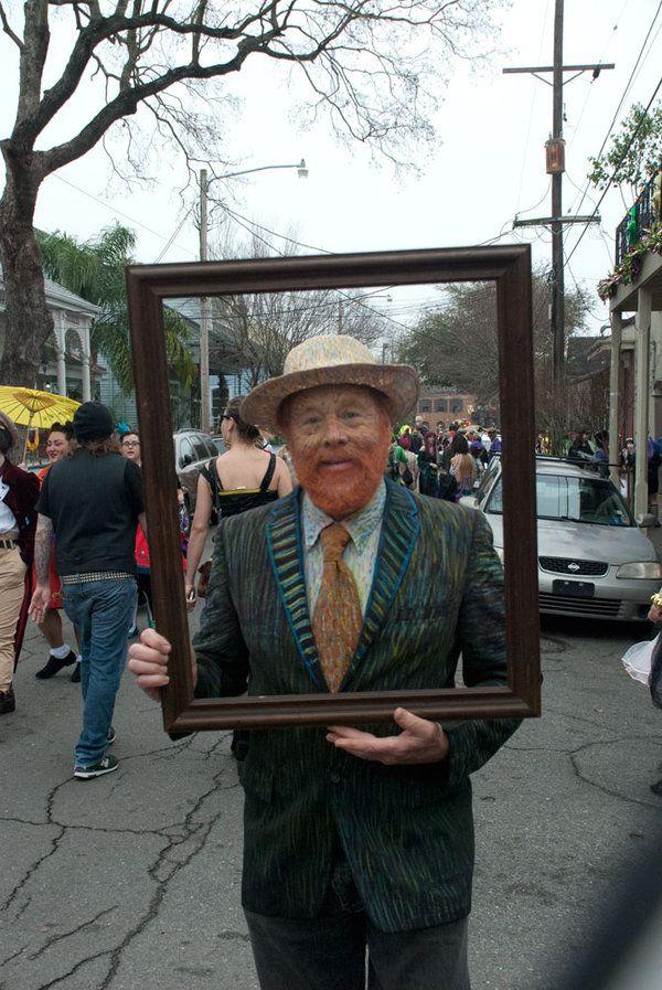 Mardi Gras Indians, skull gangs in Treme (Van Gogh self portrait)