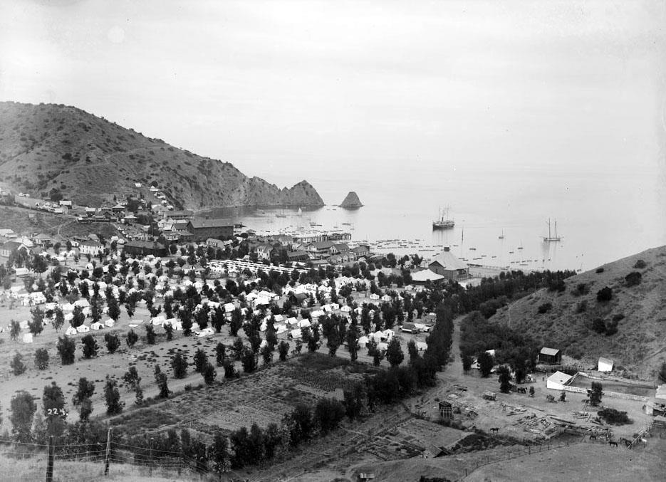 & Circa 1897 view of the Avalon Bay