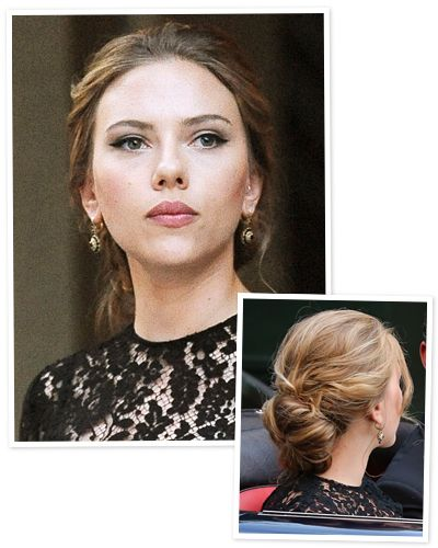 New Year S Eve Hair Idea A Soft Chignon Like Elizabeth Banks New Year S Eve Hair Hair Styles Party Hairstyles