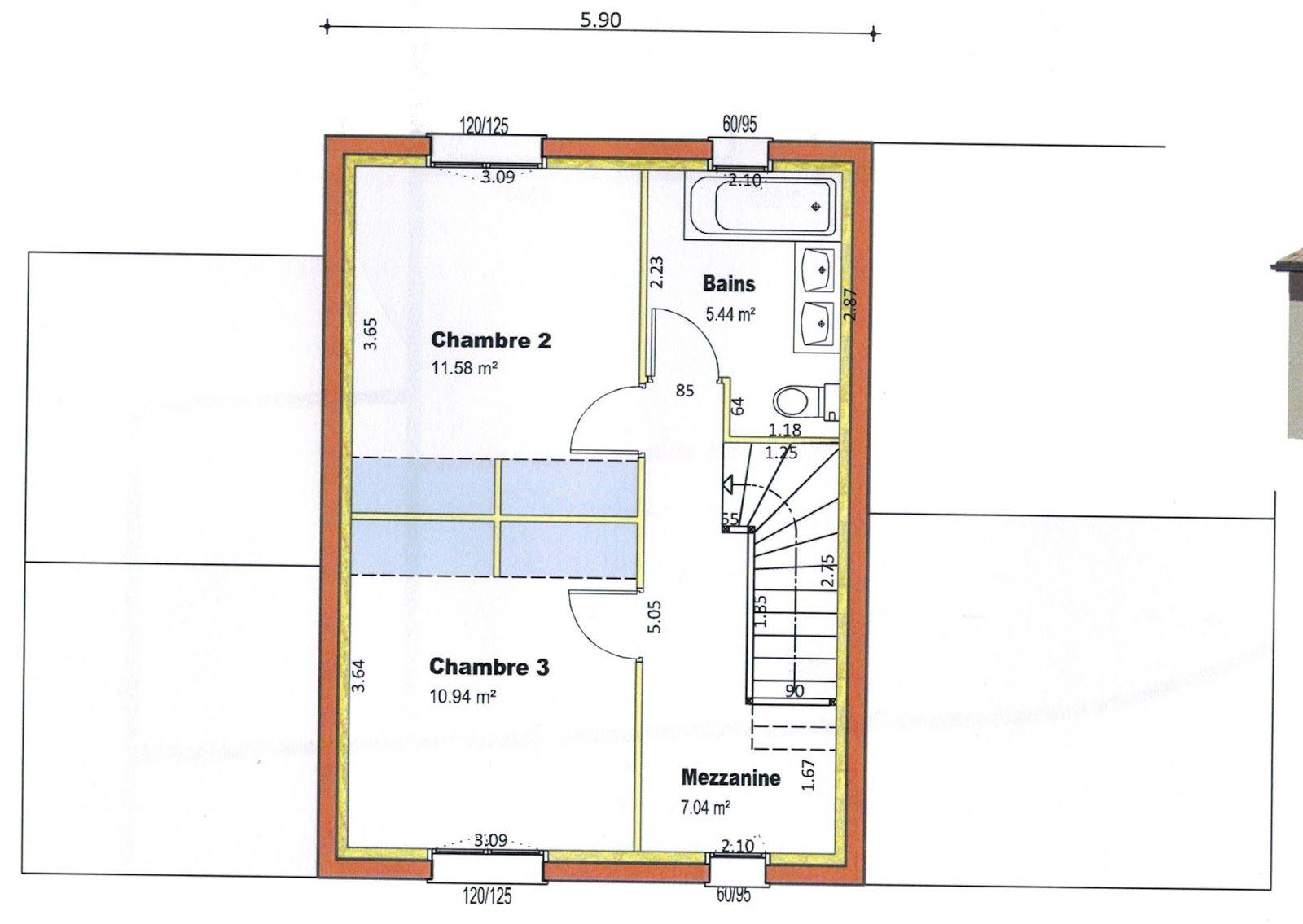 """Assez Résultat de recherche d'images pour """"plan maison 1 chambre rdc et  GX94"""